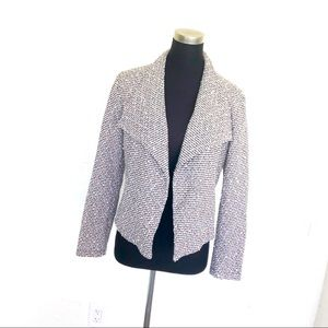 Calvin Klein Boucle Drape Blazer Jacket Pockets M